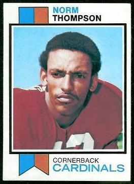 Norm Thompson 1973 Topps football card