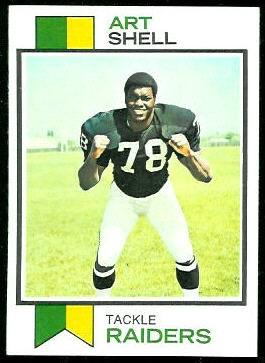 Art Shell 1973 Topps football card