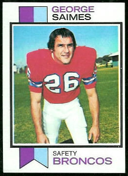 George Saimes 1973 Topps football card