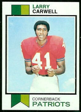 Larry Carwell 1973 Topps football card