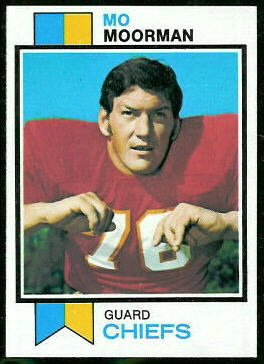 Mo Moorman 1973 Topps football card