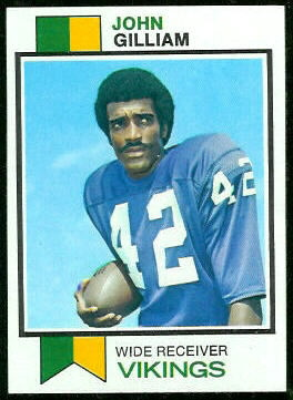 John Gilliam 1973 Topps football card