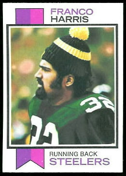 Franco Harris 1973 Topps football card