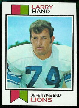 Larry Hand 1973 Topps football card