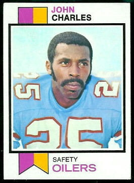John Charles 1973 Topps football card