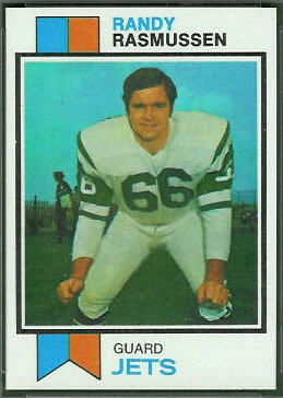 Randy Rasmussen 1973 Topps football card
