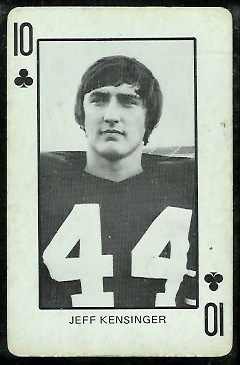 Jeff Kensinger 1974 Colorado Playing Cards football card