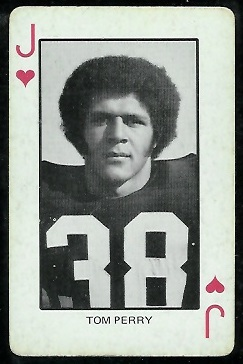 Tom Perry 1974 Colorado Playing Cards football card