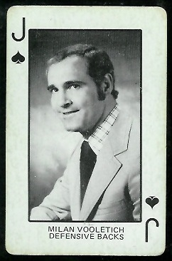 Milan Vooletich 1974 Colorado Playing Cards football card