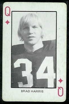 Brad Harris 1974 Colorado Playing Cards football card