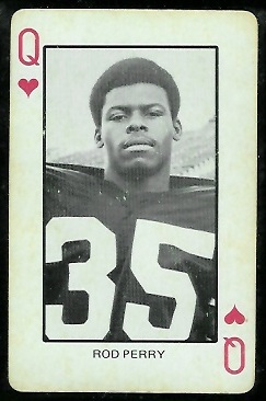 Rod Perry 1974 Colorado Playing Cards football card