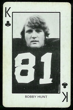 Bobby Hunt 1974 Colorado Playing Cards football card