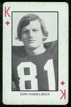 Don Hasselbeck 1974 Colorado Playing Cards football card