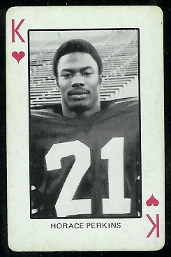 Horace Perkins 1974 Colorado Playing Cards football card