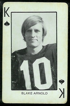 Blake Arnold 1974 Colorado Playing Cards football card