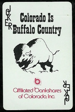 Colorado Buffaloes Logo 1974 Colorado Playing Cards football card
