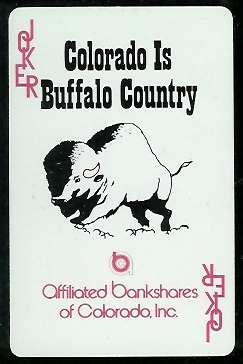 Colorado Buffaloes Logo 1974 Colorado Playing Cards football card