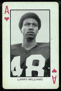 Larry Williams 1974 Colorado Playing Cards football card