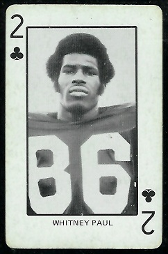 Whitney Paul 1974 Colorado Playing Cards football card