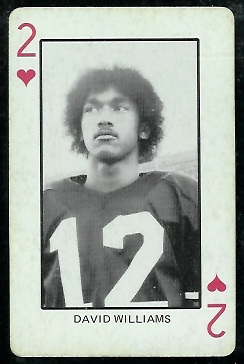 Dave Williams 1974 Colorado Playing Cards football card