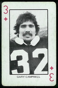 Gary Campbell 1974 Colorado Playing Cards football card