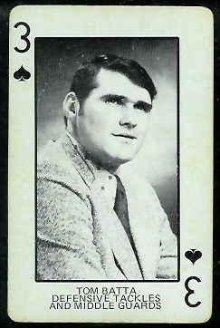 Tom Batta 1974 Colorado Playing Cards football card
