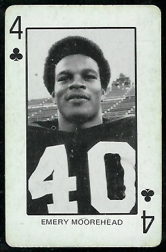 Emery Moorehead 1974 Colorado Playing Cards football card