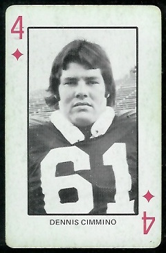 Denis Cimmino 1974 Colorado Playing Cards football card