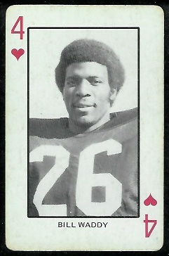 Bill Waddy 1974 Colorado Playing Cards football card