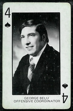 George Belu 1974 Colorado Playing Cards football card