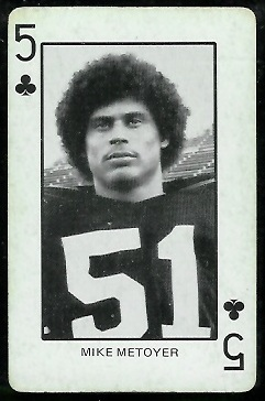 Mike Metoyer 1974 Colorado Playing Cards football card