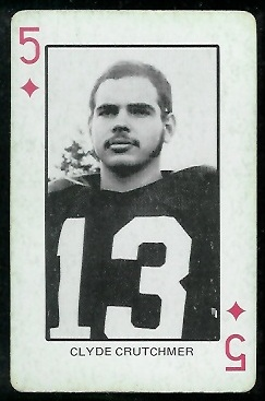 Clyde Crutchmer 1974 Colorado Playing Cards football card