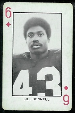 Bill Donnell 1974 Colorado Playing Cards football card