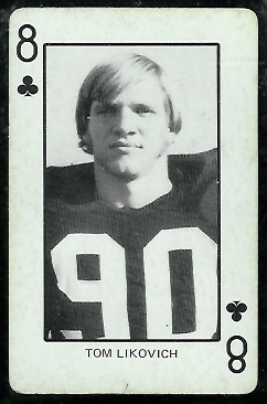 Tom Likovich 1974 Colorado Playing Cards football card