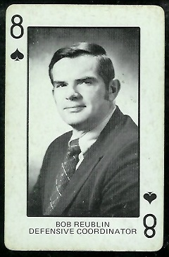 Bob Reublin 1974 Colorado Playing Cards football card