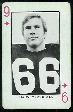 Harvey Goodman 1974 Colorado Playing Cards football card