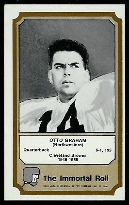Otto Graham 1974 Fleer Immortal Roll football card