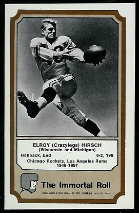 Elroy Hirsch 1974 Fleer Immortal Roll football card