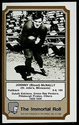 John McNally 1974 Fleer Immortal Roll football card