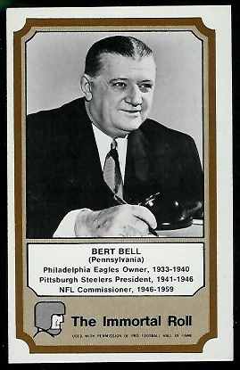 Bert Bell 1974 Fleer Immortal Roll football card