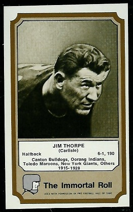 Jim Thorpe 1974 Fleer Immortal Roll football card