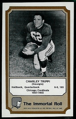 Charley Trippi 1974 Fleer Immortal Roll football card