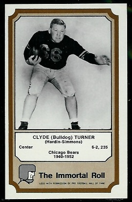 Bulldog Turner 1974 Fleer Immortal Roll football card