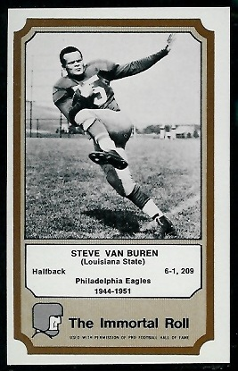 Steve Van Buren 1974 Fleer Immortal Roll football card