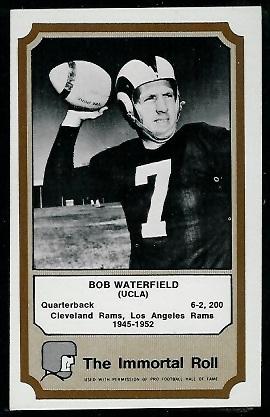Bob Waterfield 1974 Fleer Immortal Roll football card