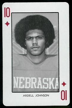 Ardell Johnson 1974 Nebraska Playing Cards football card