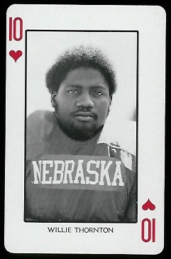 Willie Thornton 1974 Nebraska Playing Cards football card