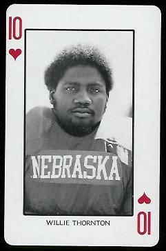 Willie Thornton 1974 Nebraska Playing Cards football card