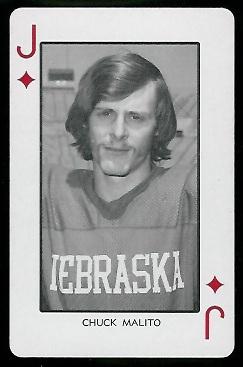 Chuck Malito 1974 Nebraska Playing Cards 11d Vintage Football