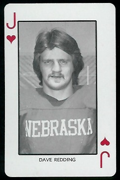 Dave Redding 1974 Nebraska Playing Cards football card